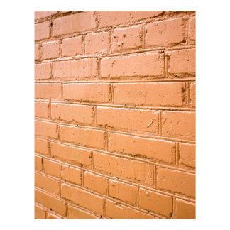 View angle on the red brick wall letterhead
