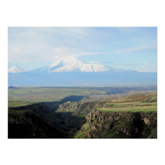 View at mountain Ararat from Armenian side Poster