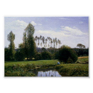 View At Rouelles Le Havre - Claude Monet Poster
