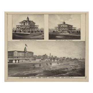 View at Sea Grove, Cape May Point Poster