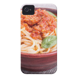 View close-up on a small portion of cooked spaghet iPhone 4 Case-Mate cases
