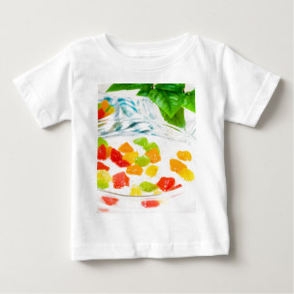 View close-up on oatmeal with colorful candied baby T-Shirt