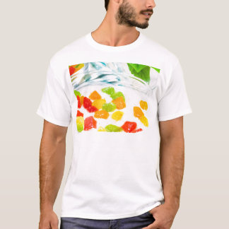 View close-up on oatmeal with colorful candied T-Shirt