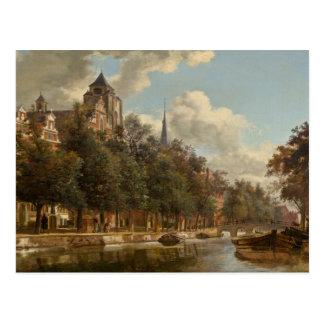 View Down a Dutch Canal Postcard