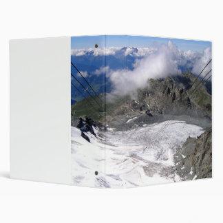 View down the Mont Fort glacier Vinyl Binders