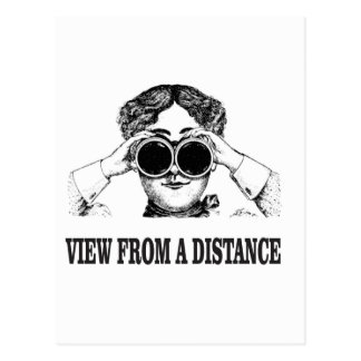 view from a distance postcard