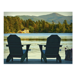 View from Adirondack Chairs in the Adirondacks, NY Postcard