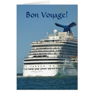 View from Astern Bon Voyage Card