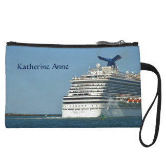 View from Astern Personalized Wristlet Clutch