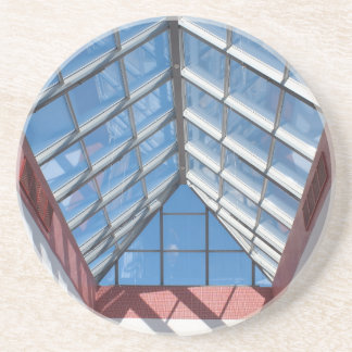 View from below the transparent roof of the glass beverage coasters