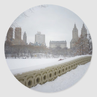 View From Bow Bridge, Central Park, New York City Round Sticker