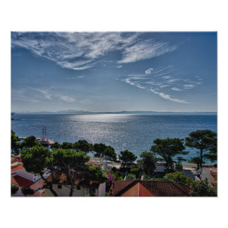 View from Brela, Croatia Poster
