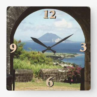 View from Brimstone Hill Fortress Square Wall Clock