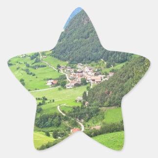 View from Castelrotto Star Sticker