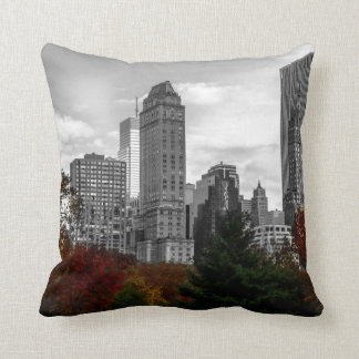 View from Central Park in New York City Throw Pillow