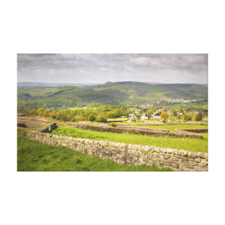 view from Curbar Edge, Peak District photo Canvas Print