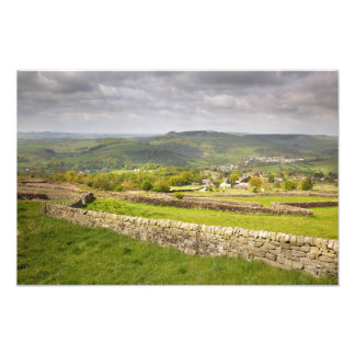 view from Curbar Edge, Peak District Photo Print
