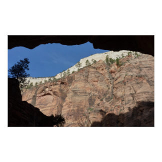 View from Devil's Staircase at Zion National Park Poster