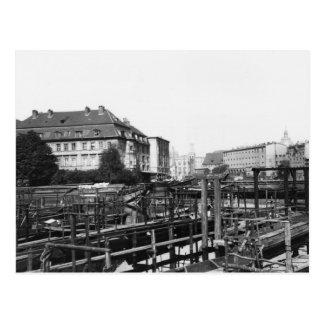 View from 'Fischerinsel', Berlin, c.1910 Postcard