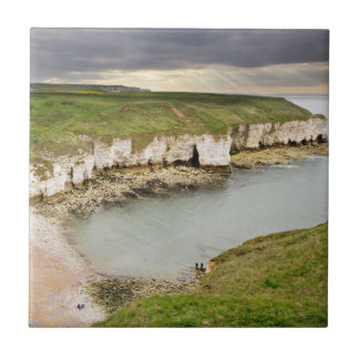View from Flamborough Cliffs souvenir photo Tile