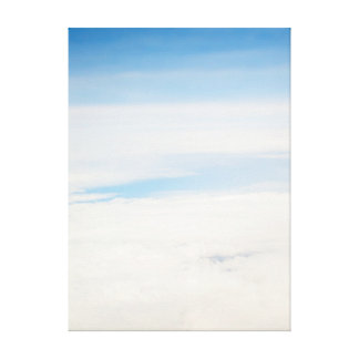 view from flight. heavens canvas print