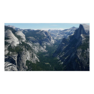 View from Glacier Point Yosemite National Park Poster