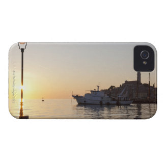 View from harbor of Rovinj, Croatia, at sunset iPhone 4 Case
