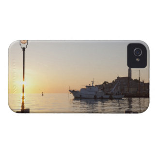 View from harbor of Rovinj, Croatia, at sunset iPhone 4 Case-Mate Case