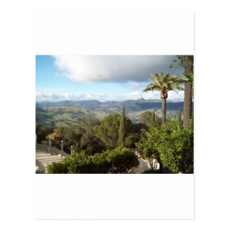 View from Hearst Castle Postcard