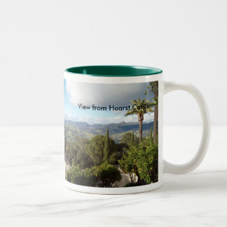 View from Hearst Castle Two-Tone Coffee Mug