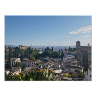 View from Hillside over Spanish City Poster