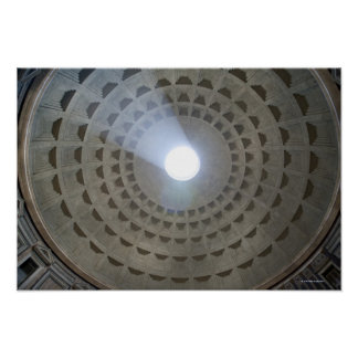 View from inside the Pantheon up to the cupola Poster