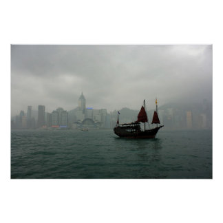 View from Kowloon towards Wan Chai, Hong Kong Print