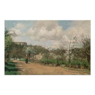 View from Louveciennes, 1869-70 Poster