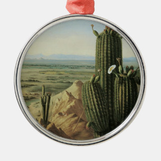 View from Maricopa Mountain Near Rio Gila by Pratt Silver-Colored Round Ornament