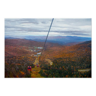 View from Mount Mansfield, Vermont, in Autumn Poster