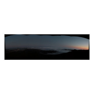 View From Mount Tamalpias Dusk Posters