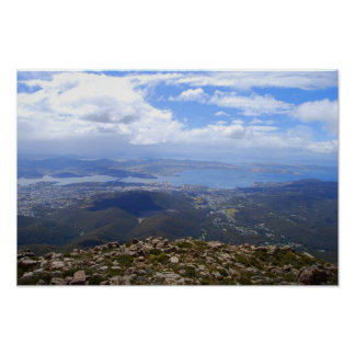 View from Mount Wellington, Tasmania, Print