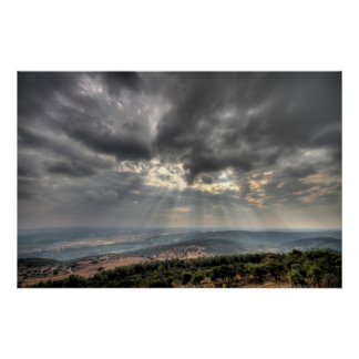View from Mt. Carmel, Israel Photo Poster