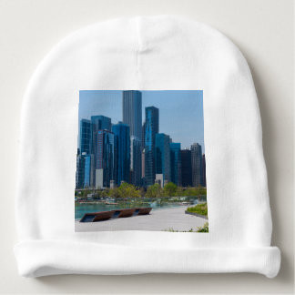 View From Navy Pier Baby Beanie