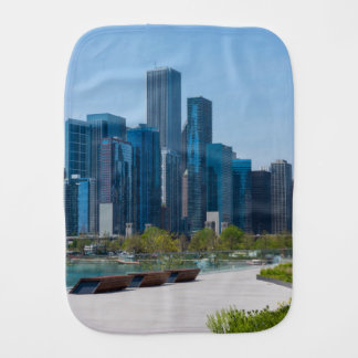 View From Navy Pier Baby Burp Cloth