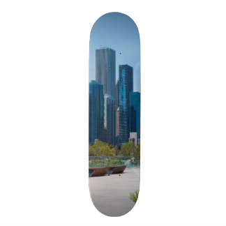 View From Navy Pier Custom Skate Board