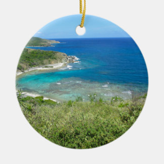 View From Norman Island Ceramic Ornament