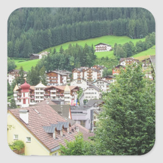 View from Ortisei Square Sticker