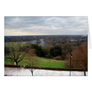 View from Richmond Hill Terrace, Surrey, England Card