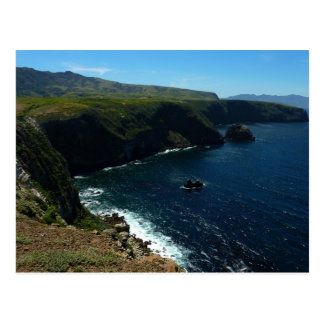 View from Santa Cruz Island in Channel Islands Postcard