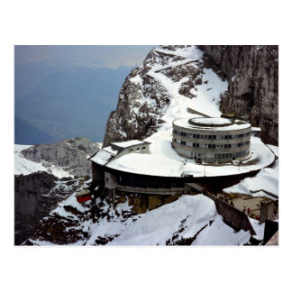 View from summit, Mt. Pilatus, Switzerland Europe Postcard