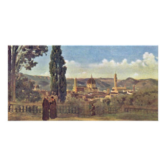 View From The Boboli Gardens In Florence / Italian Customized Photo Card