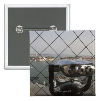 View from the Campanile, San Giorgio Maggiore, 2 Inch Square Button