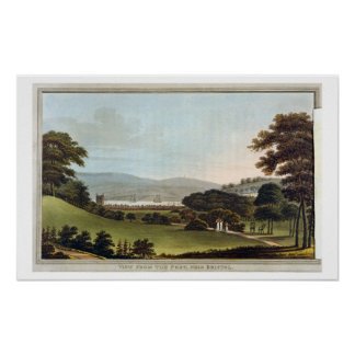 View from the Fort, near Bristol, from 'Observatio Poster